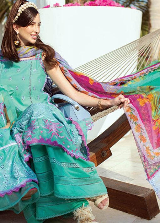 Nera by Farah Talib Aziz Embroidered Lawn Unstitched 3 Piece Suit 07 Opal – Summer Collection
