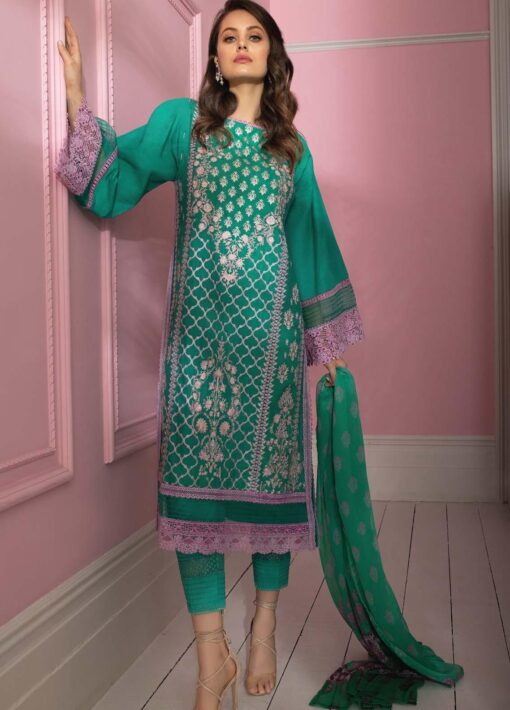 Vital by Sobia Nazir Embroidered Lawn Unstitched 3 Piece Suit 01B – Summer Collection