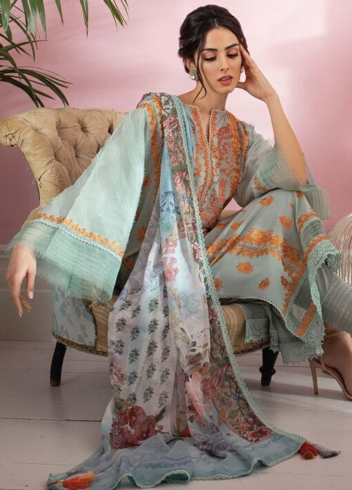 Vital by Sobia Nazir Embroidered Lawn Unstitched 3 Piece Suit 02B – Summer Collection