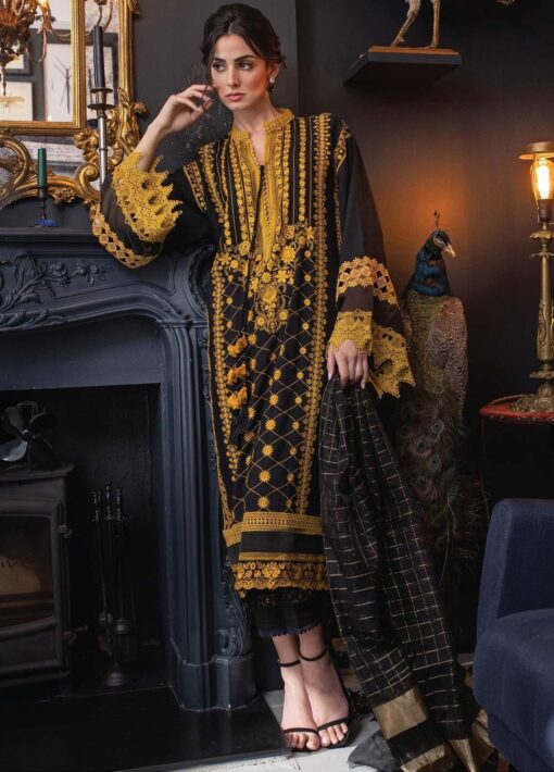 Vital by Sobia Nazir Embroidered Lawn Unstitched 3 Piece Suit 03A – Summer Collection