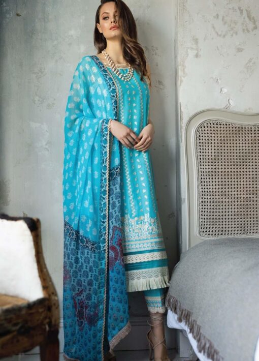 Vital by Sobia Nazir Embroidered Lawn Unstitched 3 Piece Suit 04A – Summer Collection