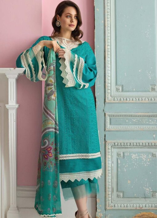 Vital by Sobia Nazir Embroidered Lawn Unstitched 3 Piece Suit 05A – Summer Collection