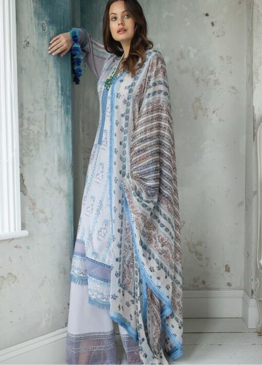 Vital by Sobia Nazir Embroidered Lawn Unstitched 3 Piece Suit 06B – Summer Collection