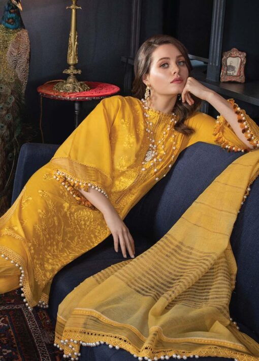 Vital by Sobia Nazir Embroidered Lawn Unstitched 3 Piece Suit 07A – Summer Collection