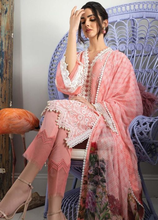 Vital by Sobia Nazir Embroidered Lawn Unstitched 3 Piece Suit 08A – Summer Collection