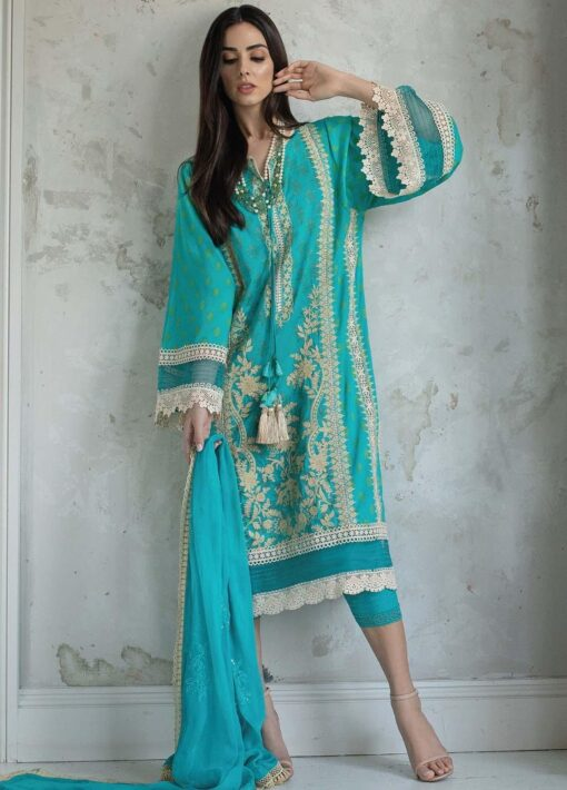 Vital by Sobia Nazir Embroidered Lawn Unstitched 3 Piece Suit 09A – Summer Collection