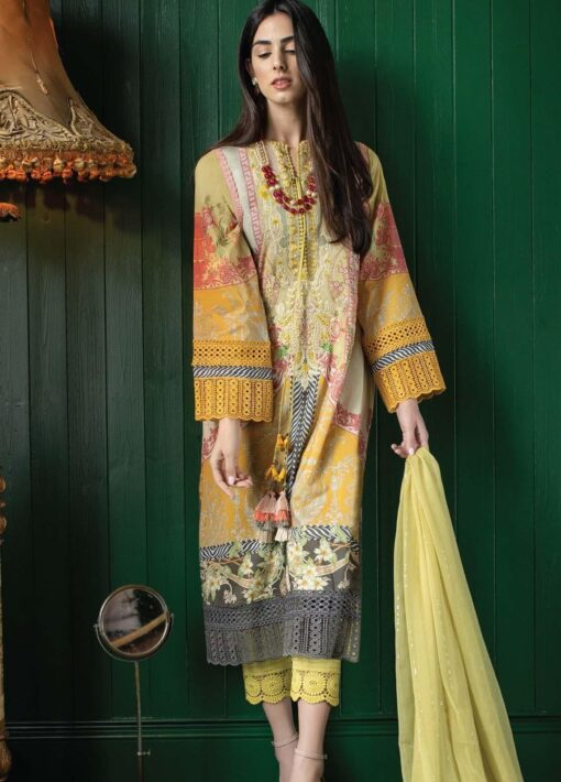 Vital by Sobia Nazir Embroidered Lawn Unstitched 3 Piece Suit 11B – Summer Collection