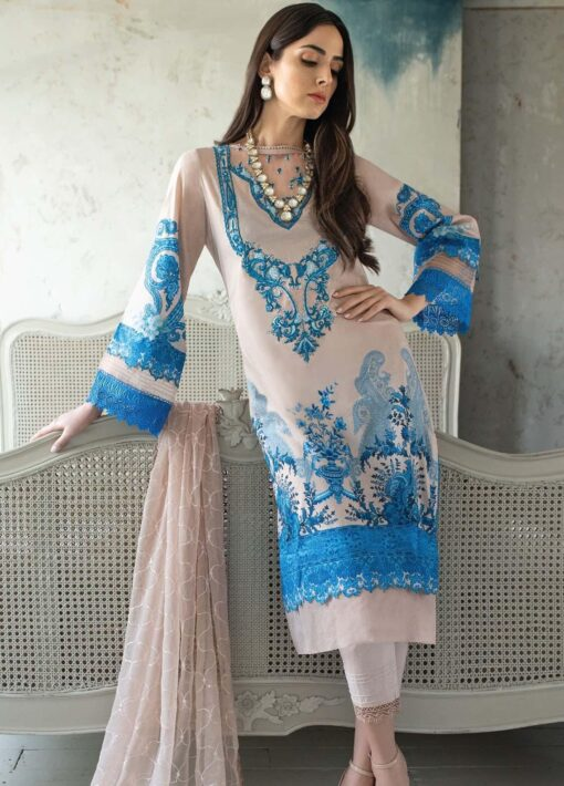 Vital by Sobia Nazir Embroidered Lawn Unstitched 3 Piece Suit 12A – Summer Collection
