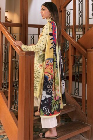 Zaha by Khadijah Shah Embroidered Lawn Unstitched 3 Piece Suit 02-B – Summer Collection
