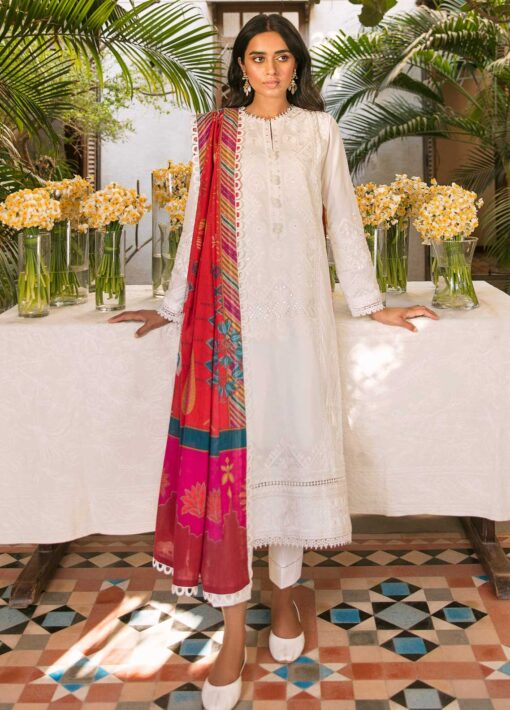 Zaha by Khadijah Shah Embroidered Lawn Unstitched 3 Piece Suit 03-A – Summer Collection