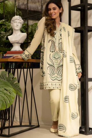 Zaha by Khadijah Shah Embroidered Lawn Unstitched 3 Piece Suit 06-B – Summer Collection