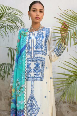 Zaha by Khadijah Shah Embroidered Lawn Unstitched 3 Piece Suit 11-A – Summer Collection