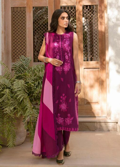 Zaha by Khadijah Shah Embroidered Lawn Unstitched 3 Piece Suit 13-B – Summer Collection