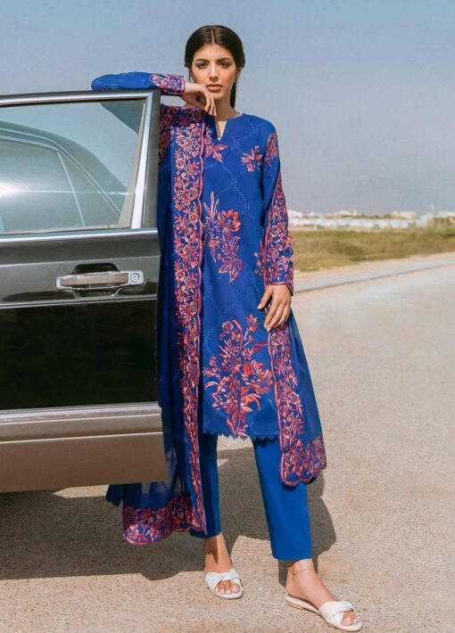 Zaha by Khadijah Shah Embroidered Lawn Unstitched 3 Piece Suit 14-B – Summer Collection