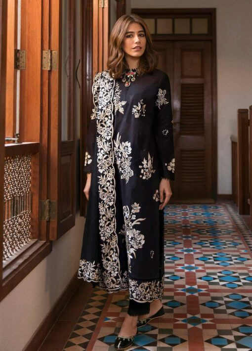 Zaha by Khadijah Shah Embroidered Lawn Unstitched 3 Piece Suit 14-A – Summer Collection