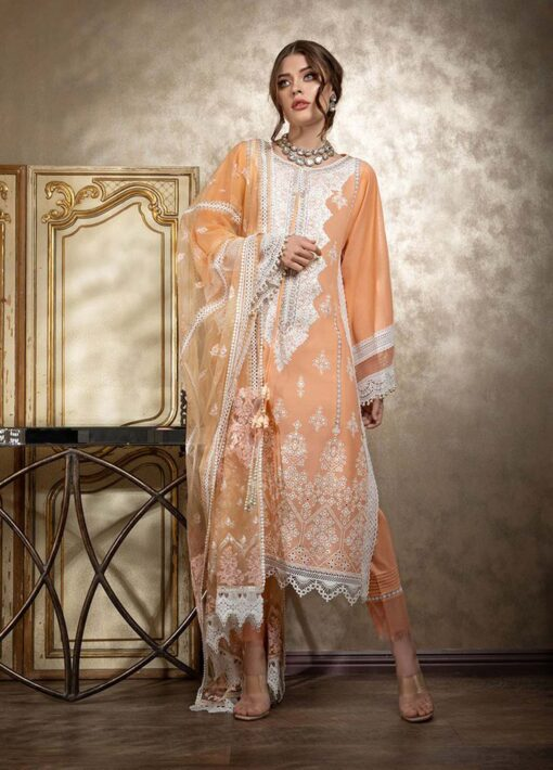 Sobia Nazir Embroidered Luxury Lawn Unstitched 3 Piece Suit 01A- Summer Collection