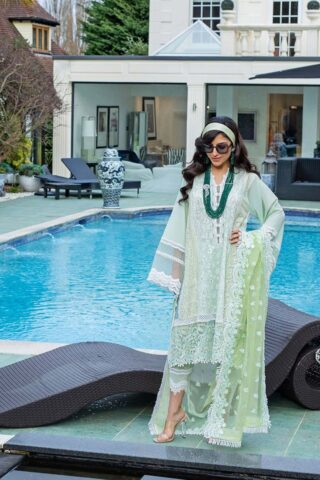 Sobia Nazir Embroidered Luxury Lawn Unstitched 3 Piece Suit 02A – Summer Collection