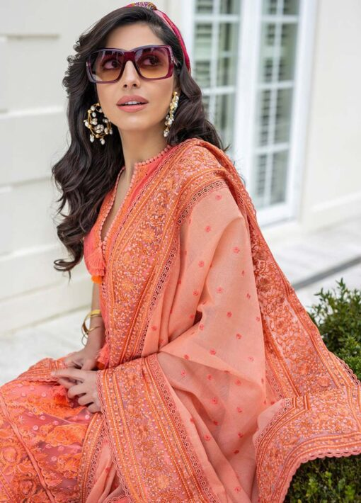 Sobia Nazir Embroidered Luxury Lawn Unstitched 3 Piece Suit 03A – Summer Collection