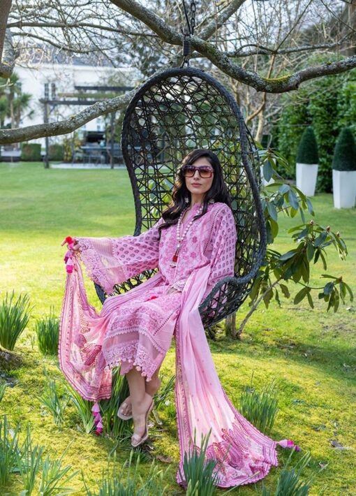 Sobia Nazir Embroidered Luxury Lawn Unstitched 3 Piece Suit 04A – Summer Collection