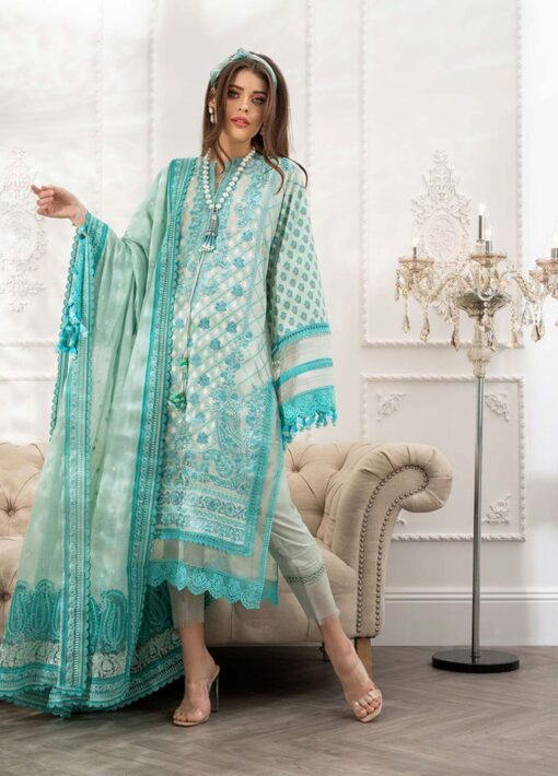 Sobia Nazir Embroidered Luxury Lawn Unstitched 3 Piece Suit 04B – Summer Collection