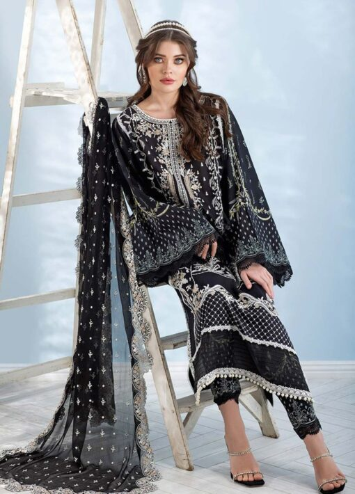 Sobia Nazir Embroidered Luxury Lawn Unstitched 3 Piece Suit 06B – Summer Collection