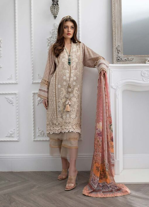 Sobia Nazir Embroidered Luxury Lawn Unstitched 3 Piece Suit 07A – Summer Collection