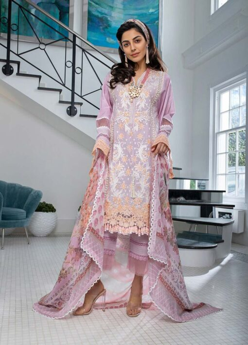 Sobia Nazir Embroidered Luxury Lawn Unstitched 3 Piece Suit 07B – Summer Collection