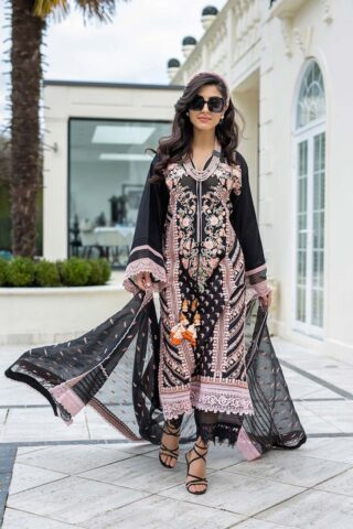 Sobia Nazir Embroidered Luxury Lawn Unstitched 3 Piece Suit 09A – Summer Collection