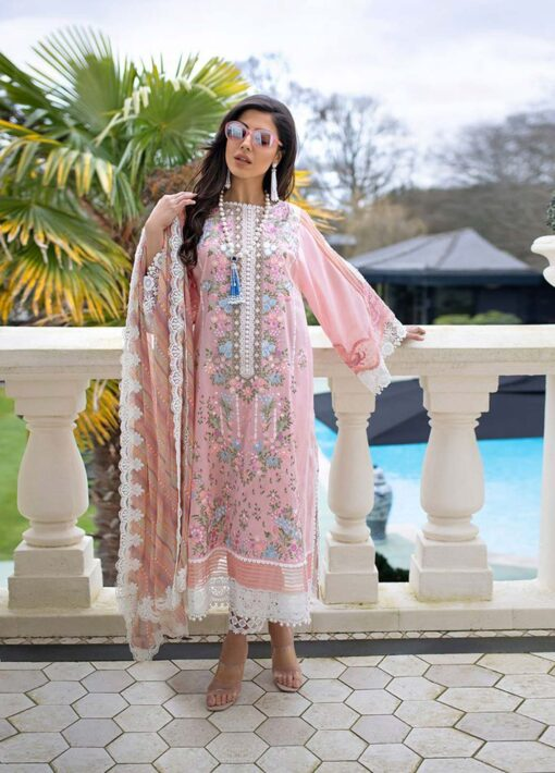 Sobia Nazir Embroidered Luxury Lawn Unstitched 3 Piece Suit 10A – Summer Collection