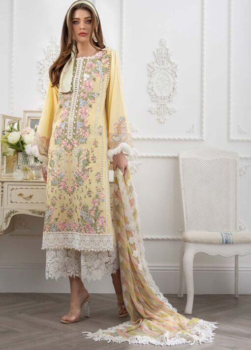 Sobia Nazir Embroidered Luxury Lawn Unstitched 3 Piece Suit 10B – Summer Collection