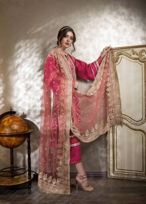 Sobia Nazir Embroidered Luxury Lawn Unstitched 3 Piece Suit 11A – Summer Collection