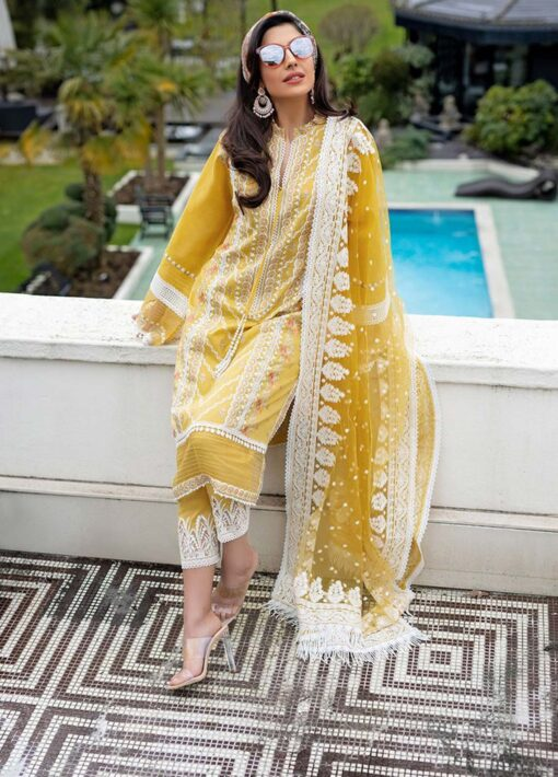 Sobia Nazir Embroidered Luxury Lawn Unstitched 3 Piece Suit 11B – Summer Collection