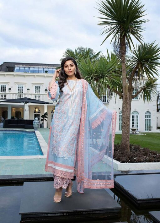 Sobia Nazir Embroidered Luxury Lawn Unstitched 3 Piece Suit 12A – Summer Collection