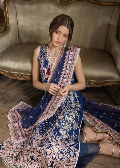 Sobia Nazir Embroidered Luxury Lawn Unstitched 3 Piece Suit 12B – Summer Collection