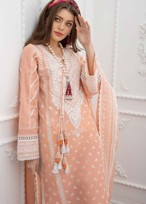 Sobia Nazir Embroidered Luxury Lawn Unstitched 3 Piece Suit 13A – Summer Collection