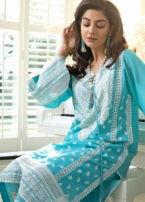 Sobia Nazir Embroidered Luxury Lawn Unstitched 3 Piece Suit 13B – Summer Collection