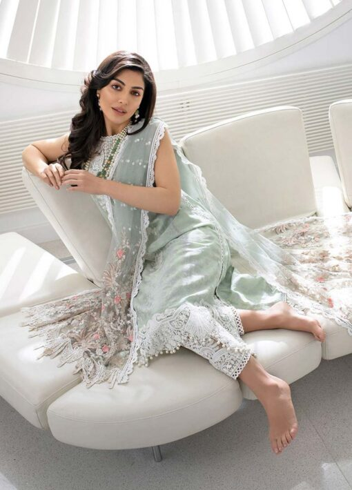 Sobia Nazir Embroidered Luxury Jacquard Unstitched 3 Piece Suit 14B – Summer Collection