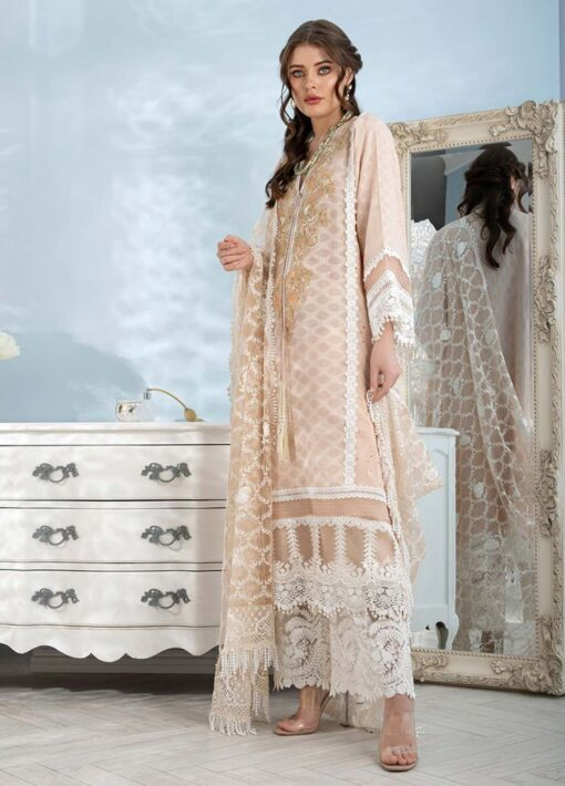 Sobia Nazir Embroidered Luxury Jacquard Unstitched 3 Piece Suit 15A – Summer Collection