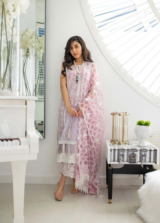 Sobia Nazir Embroidered Luxury Jacquard Unstitched 3 Piece Suit 15B – Summer Collection