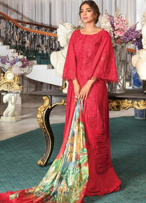 Crimson by Saira Shakira Embroidered Lawn Unstitched 3 Piece Suit D2B RUBY – Luxury Collection