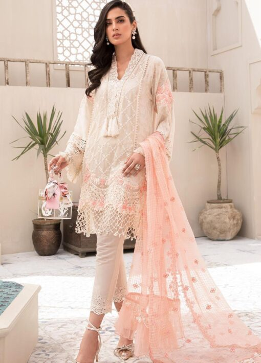 Maria B Embroidered Eid Lawn Unstitched 3 Piece Suit D-05 – Festive Collection