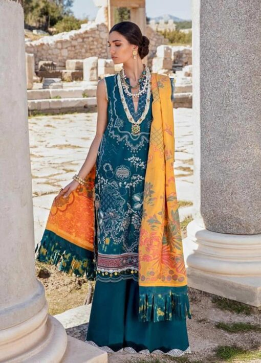 Selene By Republic WomensWear Embroidered Luxury Lawn Unstitched 3 Piece Suit 06A Jaseena – Summer Collection