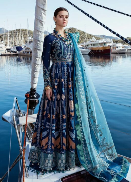 Selene By Republic WomensWear Embroidered Luxury Lawn Unstitched 3 Piece Suit 07A Mahra – Summer Collection