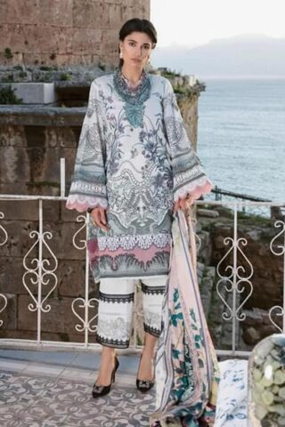 Selene By Republic WomensWear Embroidered Luxury Lawn Unstitched 3 Piece Suit 05B Zeena – Summer Collection