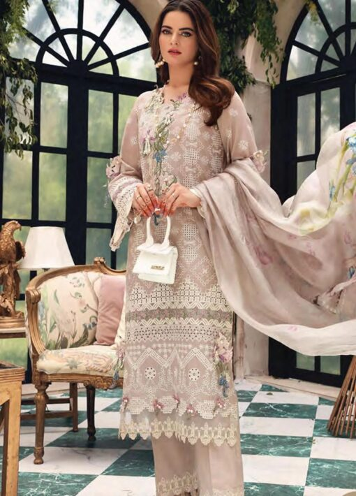 Elaf Schiffli Embroidered Lawn Unstitched 3 Piece Suit 2021 01 A – Luxury Collection