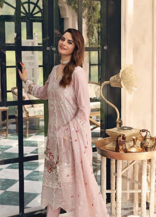 Elaf Schiffli Embroidered Lawn Unstitched 3 Piece Suit 2021 02 A – Luxury Collection