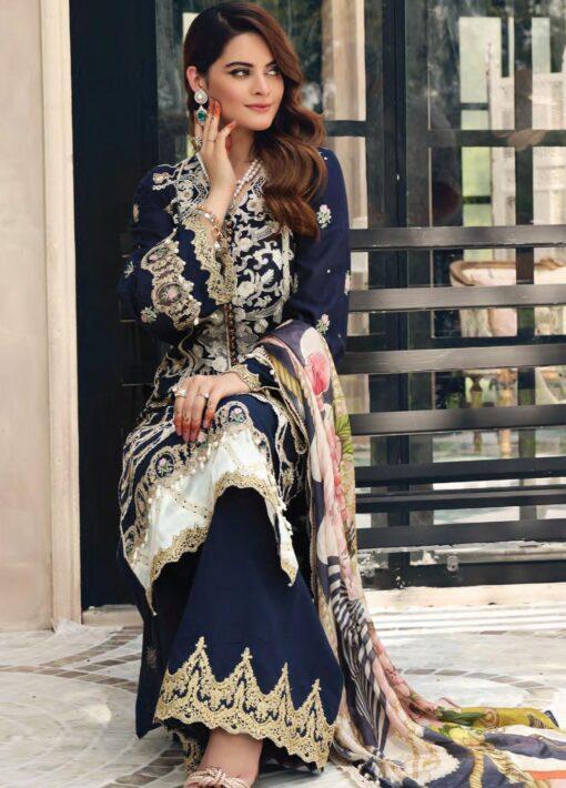 Elaf Schiffli Embroidered Lawn Unstitched 3 Piece Suit 2021 04 – Luxury Collection