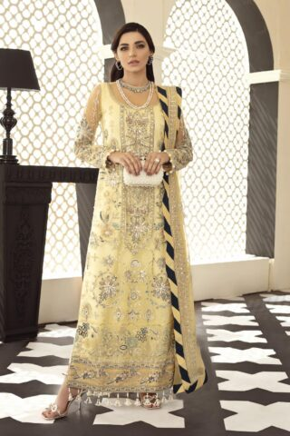 Gulaal Embroidered Net Unstitched 3 Piece Suit 2021 D 01 – Luxury Collection