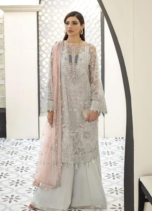 Gulaal Embroidered Net Unstitched 3 Piece Suit 2021 D 02 – Luxury Collection