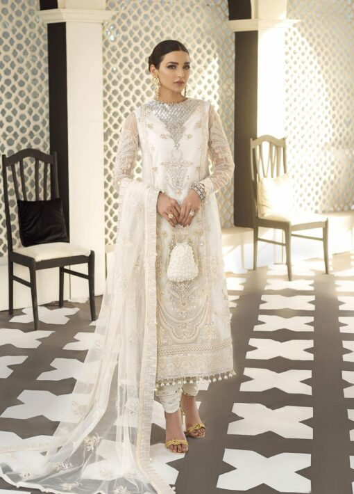 Gulaal Embroidered Net Unstitched 3 Piece Suit 2021 D 03 – Luxury Collection